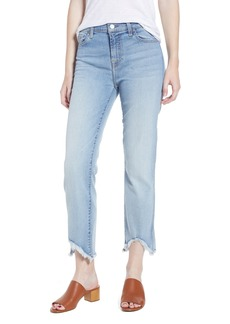 7 For All Mankind® Edie Wave Hem Straight Leg Jeans (Light Star)