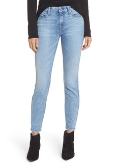 7 For All Mankind® Embellished & Ripped Ankle Skinny Jeans