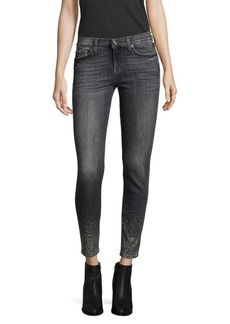 7 For All Mankind Skinny Embellished Crop Jeans