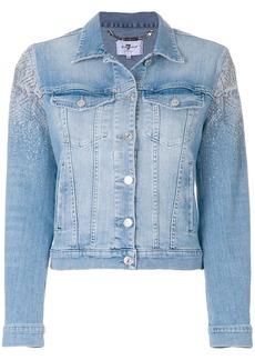 7 For All Mankind embellished denim jacket - Blue