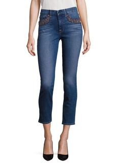 7 For All Mankind Embellished Skinny Ankle Jeans