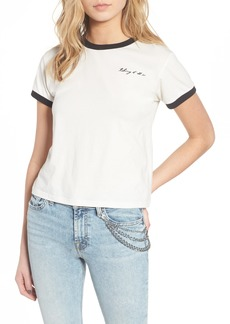 7 For All Mankind® Embroidered Ringer Tee