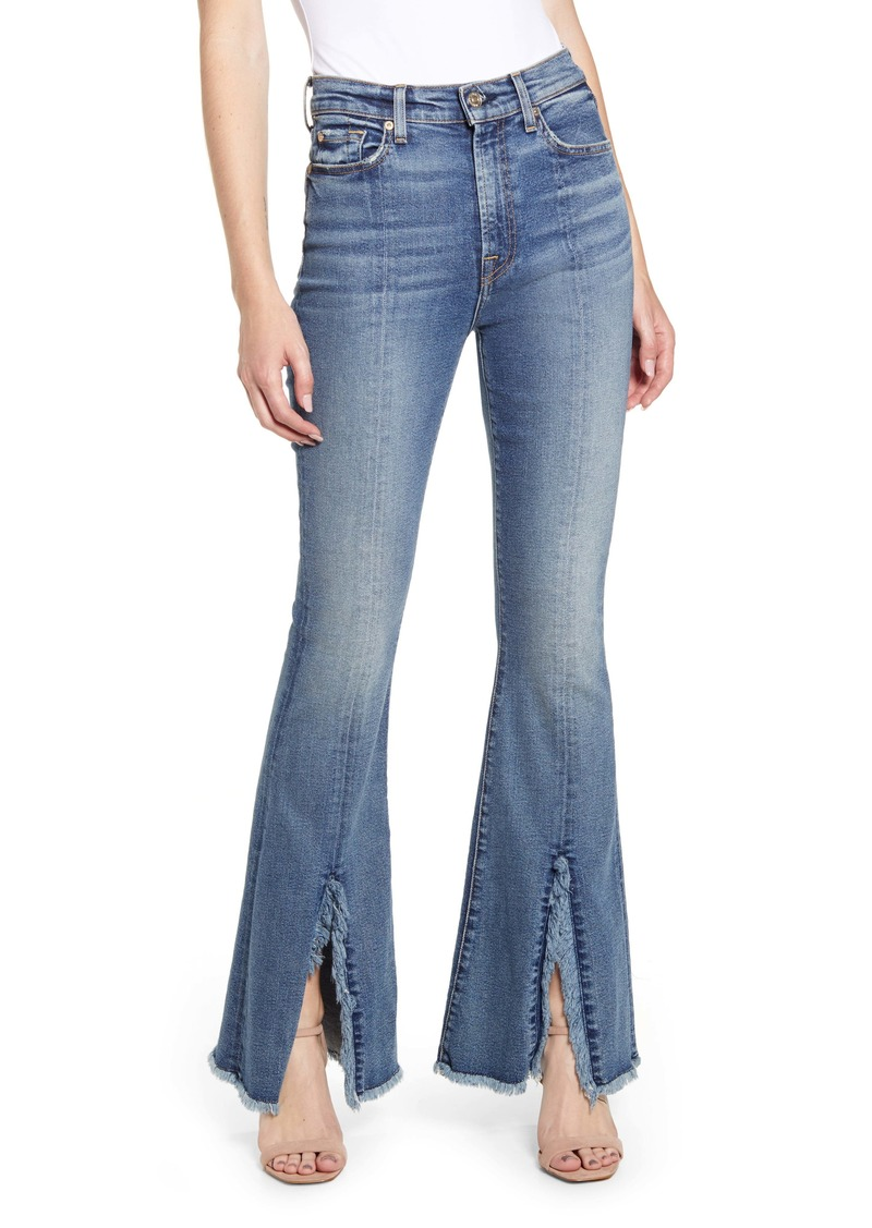 7 For All Mankind® Exaggerated Kick Fray Hem Jeans (Luxe Vintage Muse)