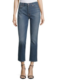 7 For All Mankind Faded Ankle Jeans
