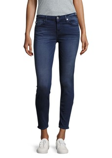 7 For All Mankind Faded Cropped-Leg Jeans