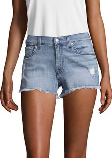 7 For All Mankind Faded Cut-Off Shorts