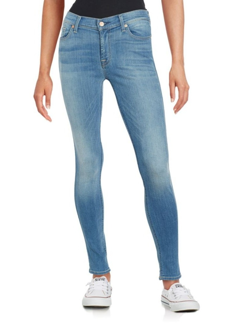 7 For All Mankind Faded Five-Pocket Jeans