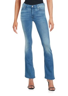 7 For All Mankind Faded Flared Jeans