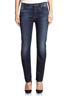 7 For All Mankind Faded Skinny Jeans