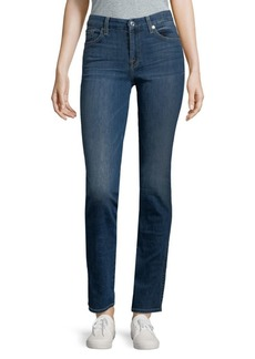7 For All Mankind Faded Straight Jeans