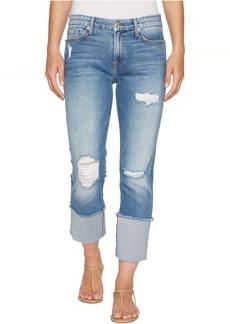7 For All Mankind Fashion Boyfriend Jeans w/ Wide Raw Cuff & Destroy in Vintage Air Classic 3