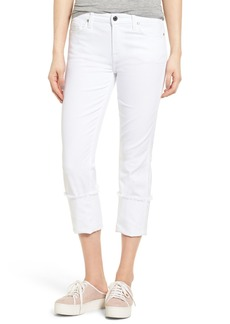 7 For All Mankind® Fashion Boyfriend Raw Cuffed Jeans (White Fashion)