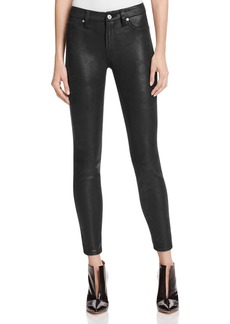 7 For All Mankind Faux Leather Skinny Jeans in Black