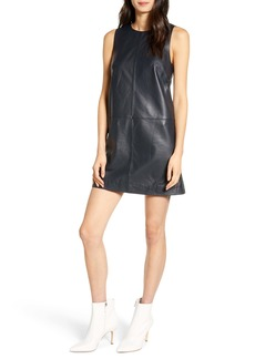 7 For All Mankind® Faux Leather Sleeveless Shift Dress