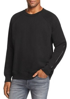 7 For All Mankind Faux Leather-Trimmed Sweatshirt