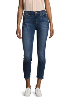 7 For All Mankind Five-Pocket Cropped Jeans