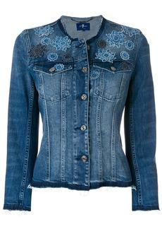 7 For All Mankind floral denim jacket - Blue