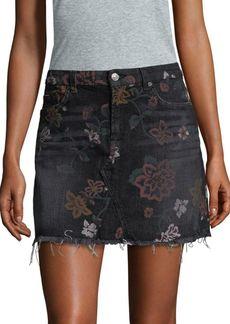 Floral Print A-Line Mini Skirt