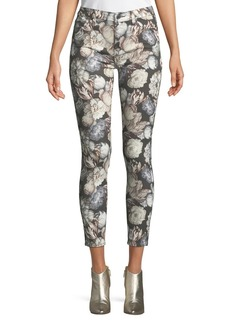 7 For All Mankind Floral-Print Skinny Ankle Jeans