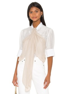 7 For All Mankind Flounce Front Blouse