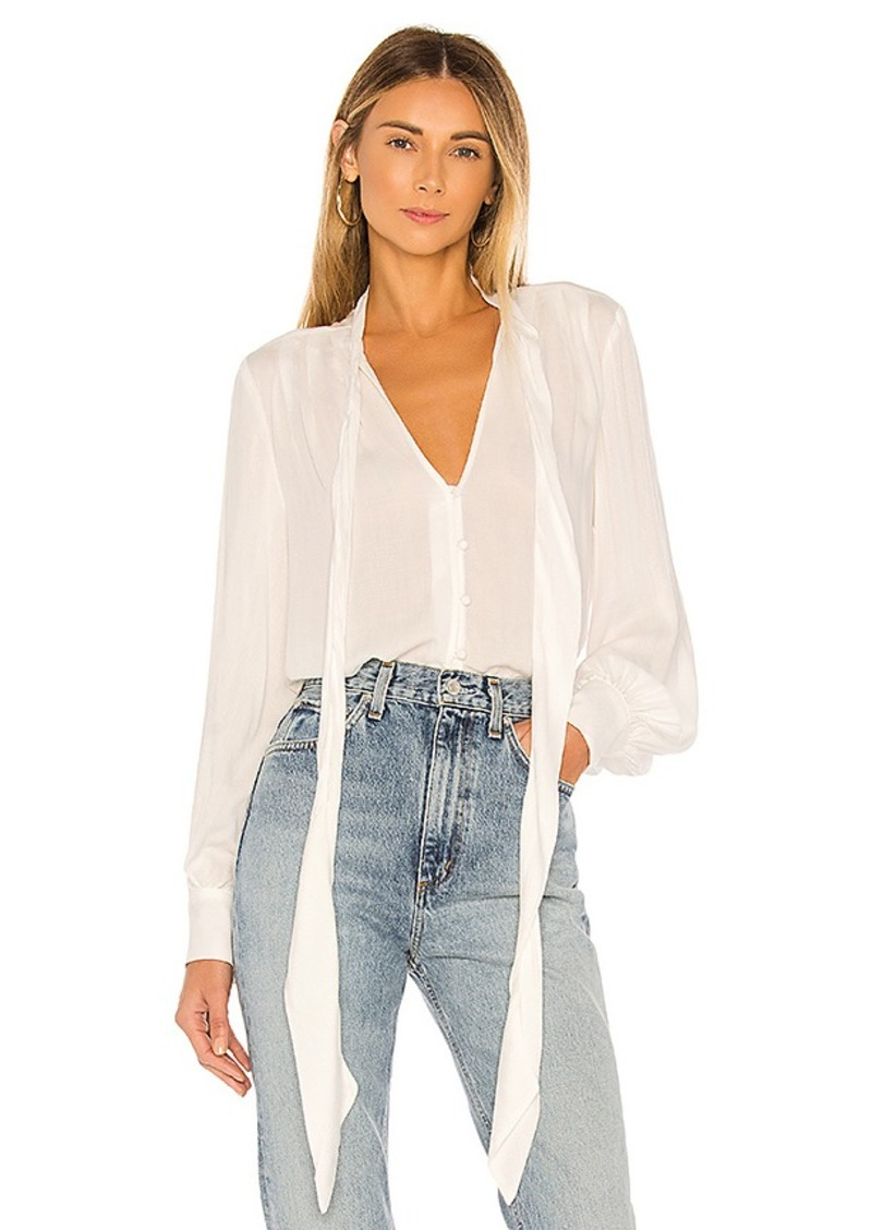 7 For All Mankind Foil Satin Blouse