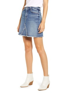7 For All Mankind® Fray Hem Denim Miniskirt