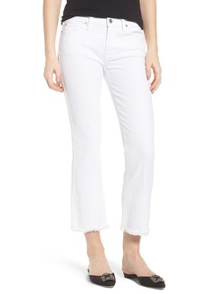 7 For All Mankind® Frayed Crop Bootcut Jeans (White Fashion)