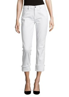 7 For All Mankind Frayed Five-Pocket Pants