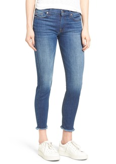 7 For All Mankind® Frayed Hem Ankle Skinny Jeans (Bondi Beach)