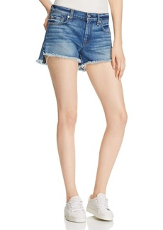 7 For All Mankind Frayed Hem Denim Shorts