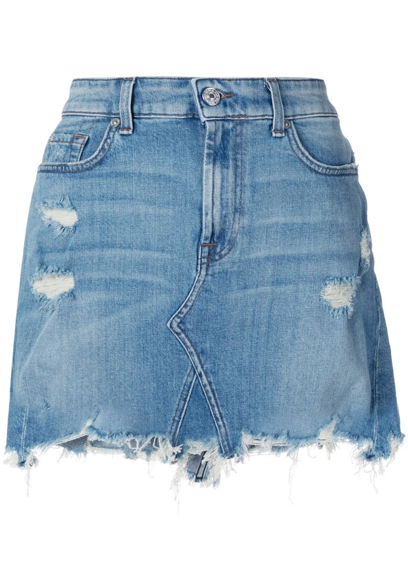 047b071edf 7 For All Mankind frayed hem denim skirt | Skirts