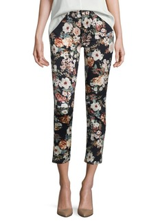 7 For All Mankind Garden Romance Cropped Skinny Jeans
