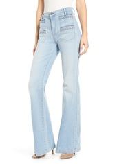 7 For All Mankind® Georgia Braided Welt High Waist Flare Jeans (Roxy Light)