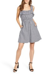 7 For All Mankind® Gingham Ruffle Dress