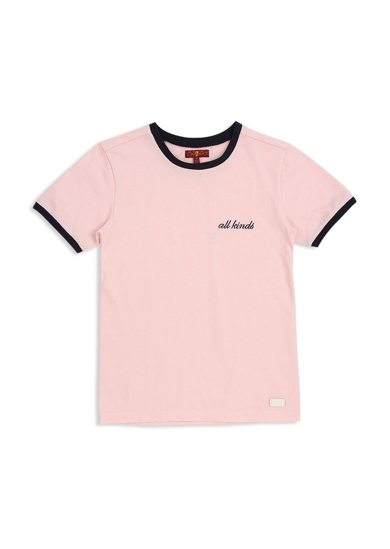 c68808886e 7 For All Mankind 7 For All Mankind Girls' All Kinds Ringer Tee ...