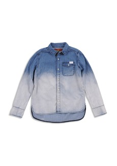 7 For All Mankind Girls' Dip-Dye Denim Shirt - Big Kid