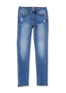 7 For All Mankind Girls' Distressed Skinny Jeans - Big Kid