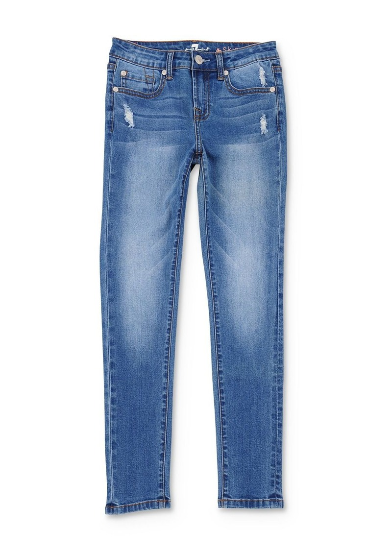7 For All Mankind Girls' Distressed Skinny Jeans - Little Kid