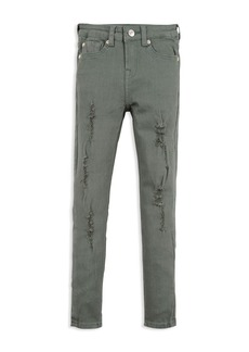 7 For All Mankind Girls' Distressed Skinny Jeans - Big Kid