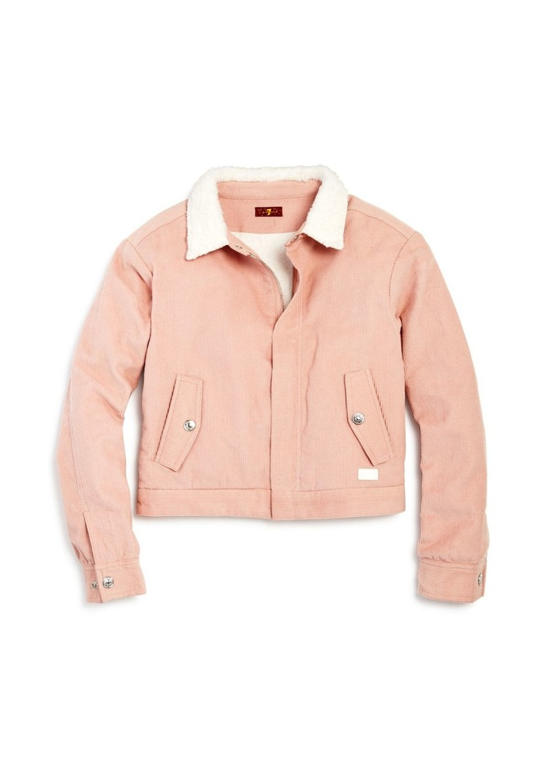 7 For All Mankind Girls' Faux Sherpa & Corduroy Jacket - Big Kid