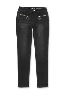 7 For All Mankind Girls' Zip-Pocket Skinny Stretch Jeans - Big Kid