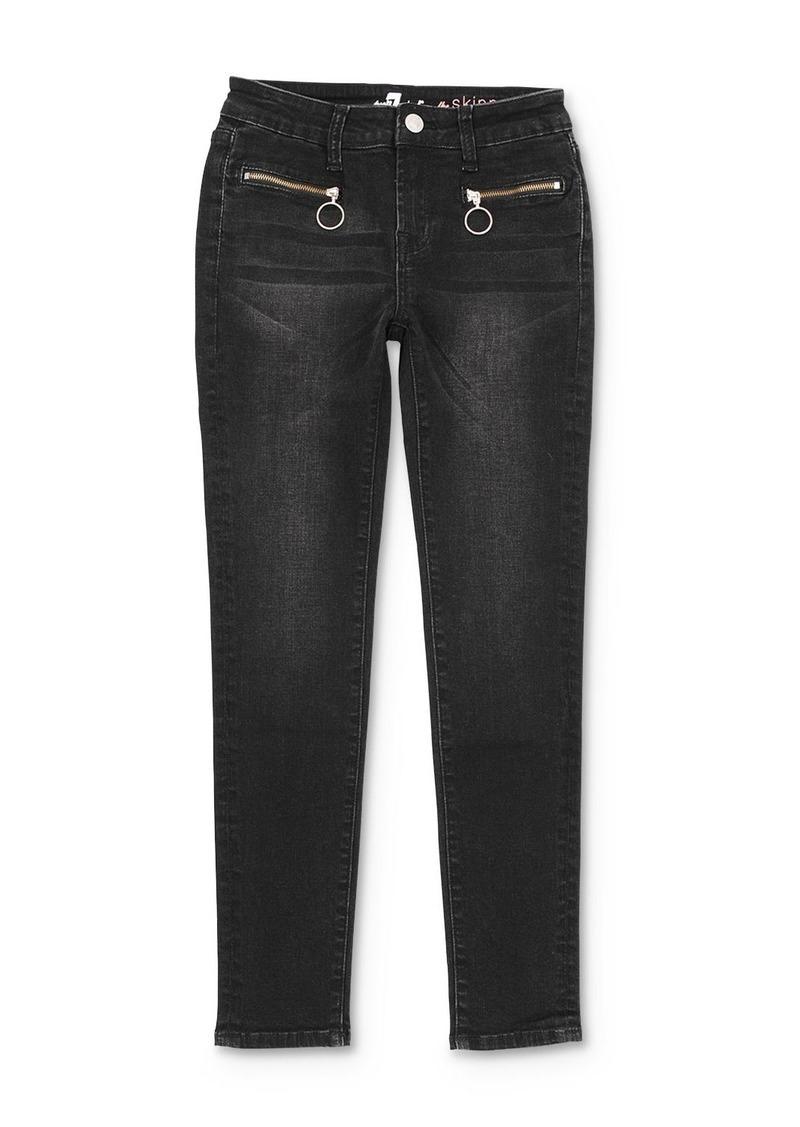 7 For All Mankind Girls' Zip-Pocket Skinny Stretch Jeans - Big Kid