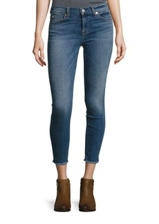 7 For All Mankind Gwenevere Ankle Frayed Jeans