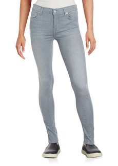 7 For All Mankind Gwenevere Cotton-Blend Skinny Jeans