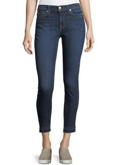 7 For All Mankind Gwenevere Dark-Wash Skinny Jeans