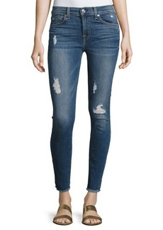 7 For All Mankind Gwenevere Destroyed Ankle Jeans