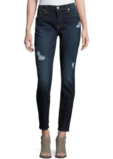 7 For All Mankind Gwenevere Destroyed Skinny Jeans