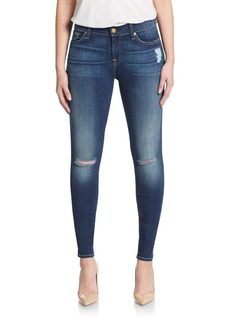 7 For All Mankind Gwenevere Distressed Ankle Skinny Jeans