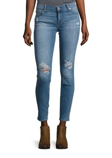 7 For All Mankind Gwenevere Distressed Skinny-Fit Jeans