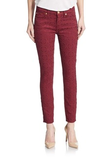 7 For All Mankind Gwenevere Embroidered Skinny Ankle Jeans